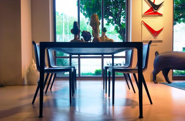 b b tavolo mirto in alluminio piano in rovere shop On tavolo mirto b b prezzo
