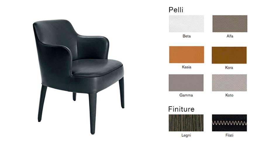 Maxalto apta febo armchair design antonio citterio shop